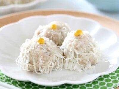 菊花シュウマイの作り方!簡単豚ひき肉料理レシピ