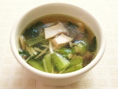 青梗菜ときのこのカレースープ