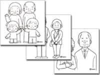 子供と動物のイラスト屋さん敬老の日イラスト