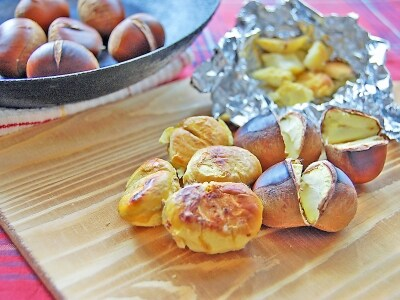 焼き栗のレシピ・作り方…グリルでとフライパンで◎アレンジ料理にも