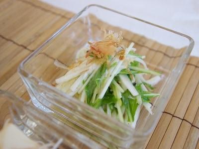 長芋と水菜のサラダ 柚子胡椒ドレッシング
