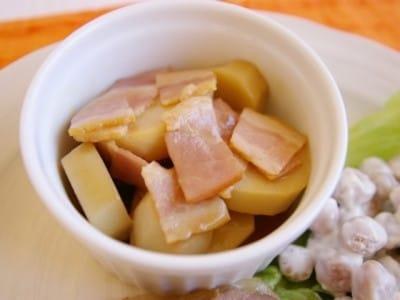 こっくり洋風煮物。里芋とベーコンのバター醤油煮