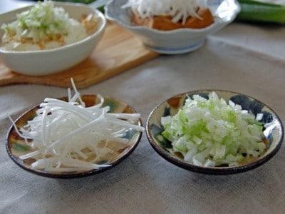 白髪ねぎの保存方法と長ねぎのみじん切りの作り方・レシピ