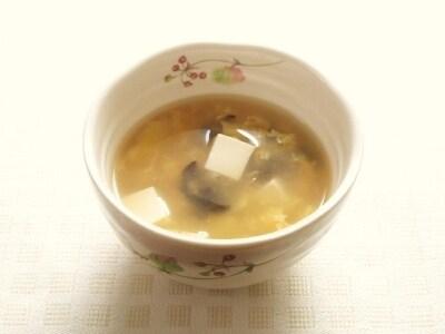 豆腐ときくらげのとろみかきたまスープ
