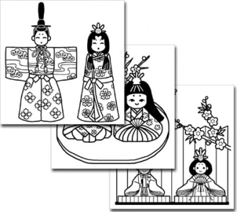 みさきのイラスト素材春の季節・行事ひな祭り