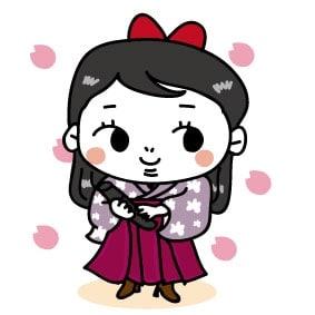 【カラー】袴にブーツのはいからさんです。