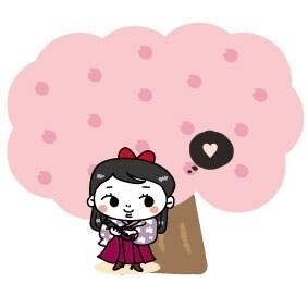【カラー】桜の木の下のはいからさんです。