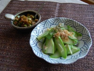 アスパラガスと生姜で作る副菜おかず2種