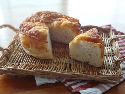 ケーキ型で作るフォカッチャ