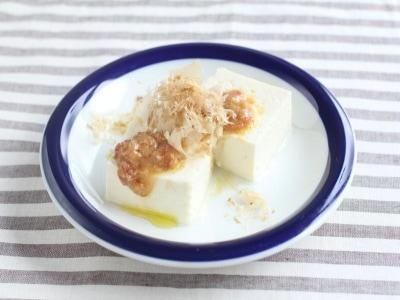 食中毒を防止 豆腐の梅だれ冷や奴