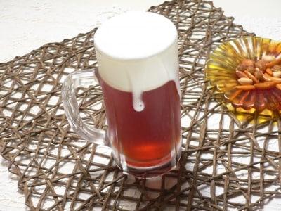 まるでビールのような、泡立て紅茶ゼリーレシピ