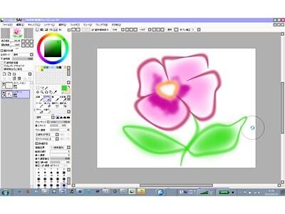 マウスでも線の太さや色に柔軟に変化を加えて描ける