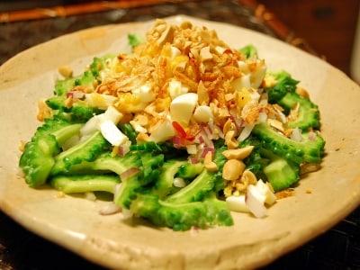 ゴーヤー(にがうり)のタイ風サラダ