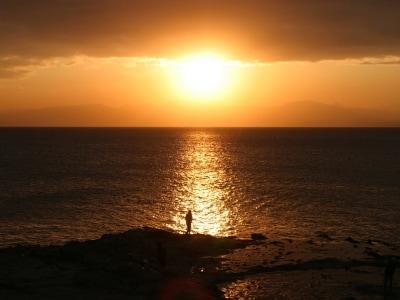 稚児ヶ淵の夕日(写真提供:藤沢市観光協会)