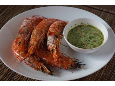 エビ焼きとタイ風シーフードソースレシピ……ピリ辛で美味しい!
