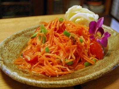にんじんのソムタム:にんじんのタイ風サラダ