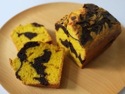ホットケーキミックスと電子レンジでパンプキンチョコパウンドケーキ