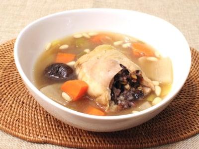 チキンロールで作る参鶏湯風スープ