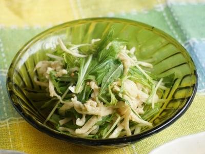 コク旨! 切干大根と水菜のオイマヨサラダ