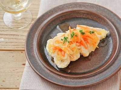 レンジで簡単!鶏胸肉と野菜の白ワイン蒸し
