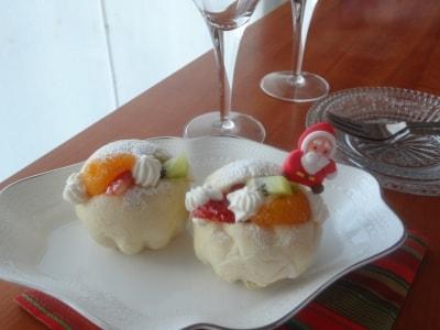 クリスマスのホワイトフルーツサンド