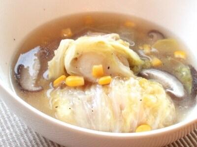もちとろお餅白菜ロール 生姜入り中華風スープ