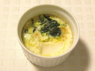 カキとほうれん草の豆腐ココット