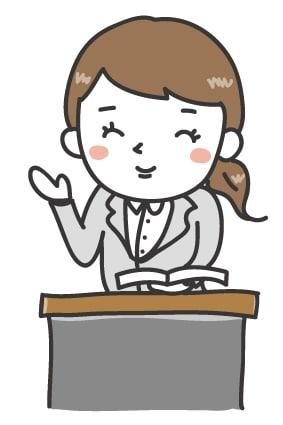 【カラー】優しそうな女性の先生です。