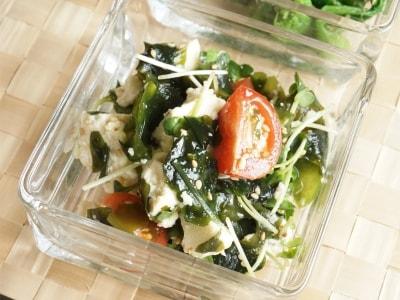 わかめと豆腐の韓国風サラダレシピ