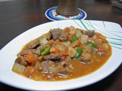 トルコ流羊肉と野菜の炒め物