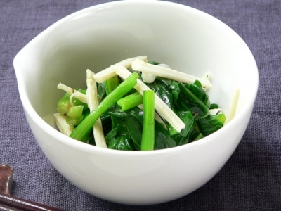 小松菜とチーズの洋風ナムルのレシピ……茹でて和えるだけ!