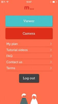 メイン画面が開くので「Camera」をタップします。