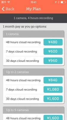 アプリの起動画面から「Myplan」を開き、「Payasyougooptions」をタップすると、オプションの価格一覧が表示できます。