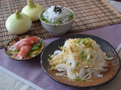 オニオンスライスレシピと新玉ねぎの保存方法