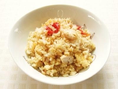 炊飯器で簡単!ミニトマトと鶏ささみのさっぱりピラフ