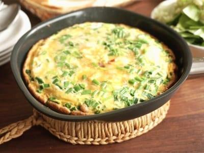 納豆オムレツのレシピ!ひっくり返さないスパニッシュオムレツ