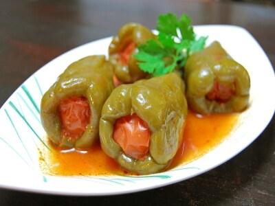 トルコのピーマンの肉詰め 「ビベル・ドルマス」
