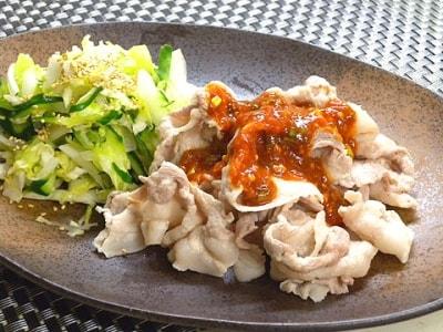サムジャンでピリ辛豚しゃぶのレシピ