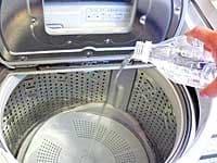 今回は給湯機からのお湯(46℃)を入れながら酸素系漂白剤をプラス