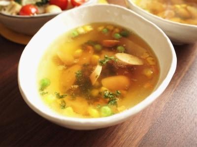 食欲そそる!ソーセージの即席カレースープ