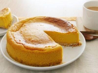 かぼちゃのチーズケーキとジンジャーミルクティー