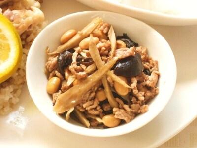 大豆ときくらげの中華風きんぴら