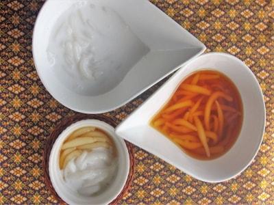 タイの屋台スイーツ ココナッツ&キャラメル白玉