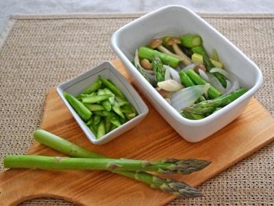 下ごしらえ+茹で方も!アスパラガスの常備菜2種