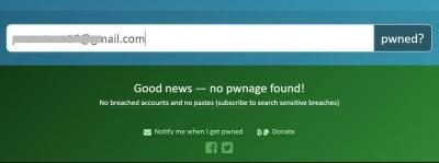 漏えいが確認されないときは「Goodnews」の文字が
