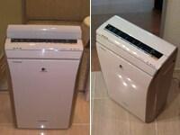 左)風呂場の乾燥は洗面所側から操作できて便利。右)移動時にカーブを曲がりにくいのが残念