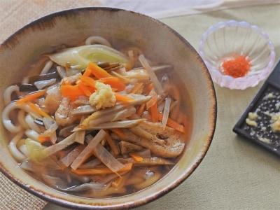 体温を上げる食べ物レシピ……野菜たっぷりあんかけうどんの作り方