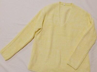 無印良品のオーガニックコットン畦編みセーター