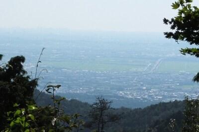 醍醐山頂上付近からの宇治方面の眺望