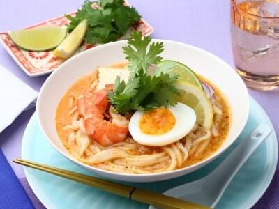話題のシンガポール麺をお家で!簡単ラクサうどん